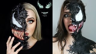 New Halloween Makeup Tutorials 2018 - VENOM 👽!!! Special Effects Makeup Transformations
