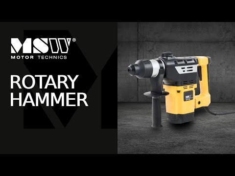 Rotary Hammer BOH-1800 by MSW Motor Technics – with 1800 Watt and SDS-Plus tool fastening