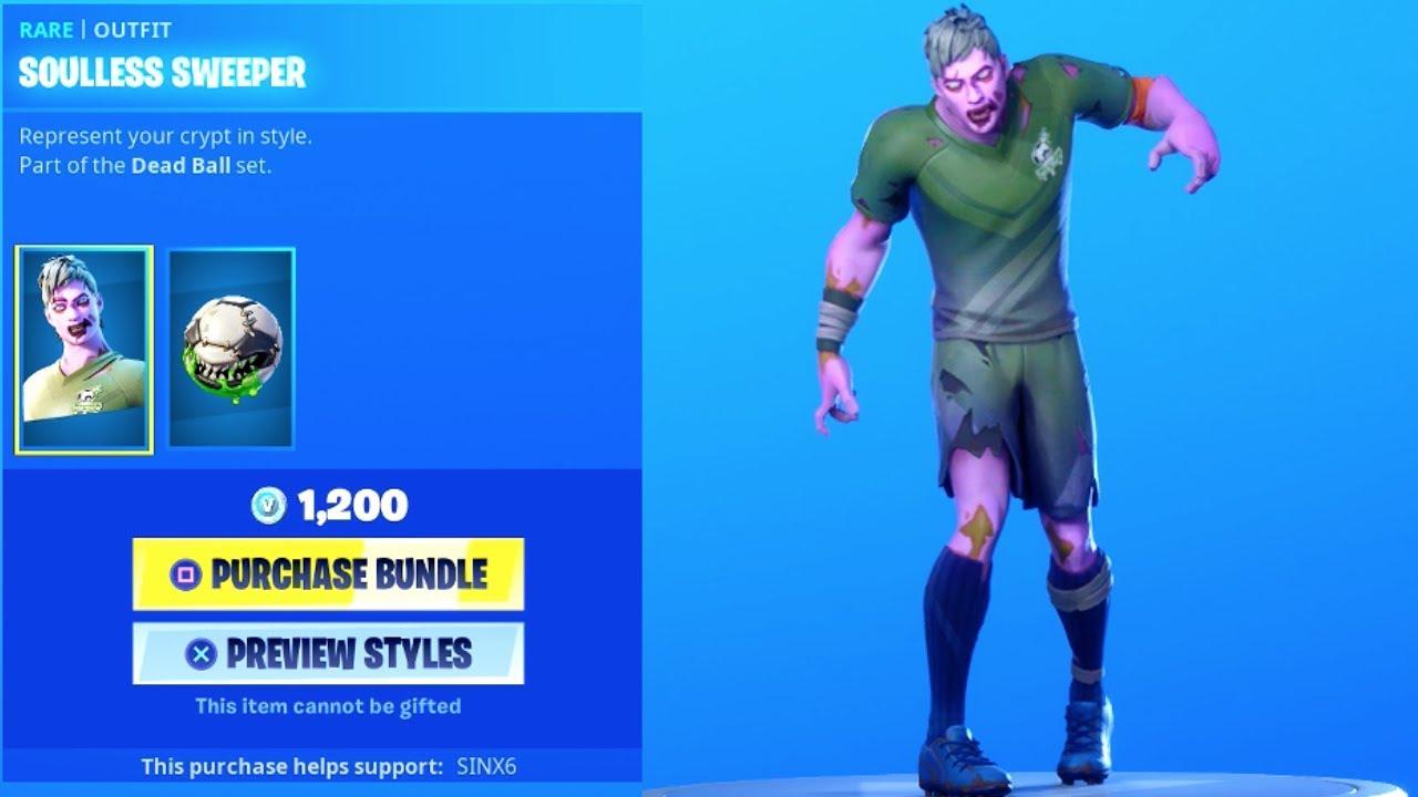 New Encrypted Zombie Soccer Skins Zombified Emote Item Shop Fortnite Battle Royale