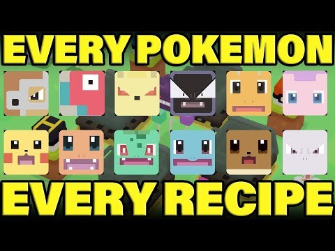 COMPLETE Pokemon Quest Recipe Guide! How To Get Every Pokemon In Pokemon Quest