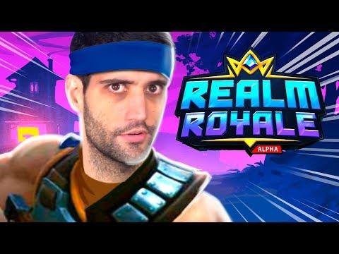 Esse NOVO battle royale veio para DERRUBAR o Fortnite - Realm Royale, Jogo GRATIS para PC