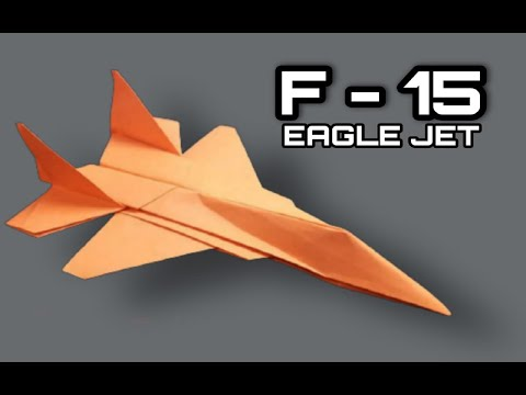 Cara membuat origami Pesawat F 15 The Eagle sangatlah sederhana. Untuk tutorial dan cara melipat kertas origami sehingga....