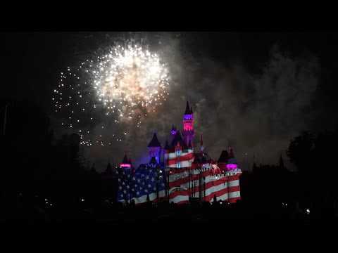 4th of July Firework Show at Disneyland