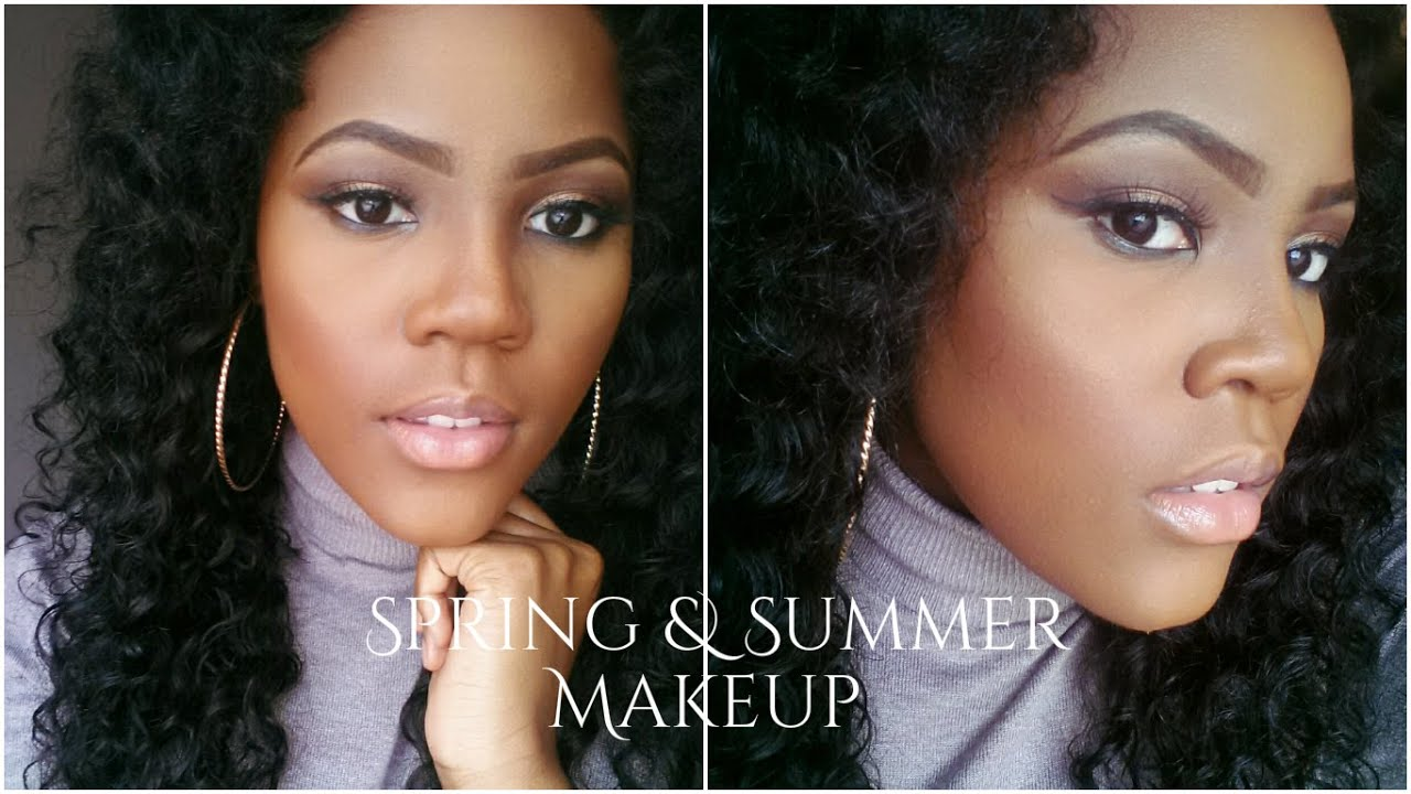 Célèbre Maquillage Peau Noire | Nude Makeup Tutorial - YouTube RO98