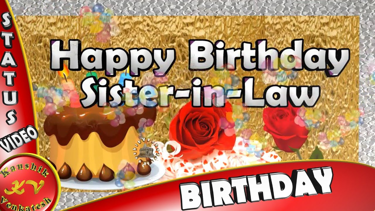 Happy Birthday Wishes Whatsapp Video Greetings Animation Sister In