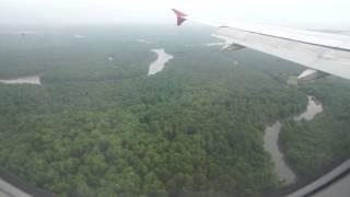 landing in Sandakan airport
