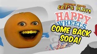 Annoying Orange plays Happy Wheels: KILLER OSTRICH!!!