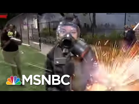 NBC News' Jo Ling Kent Hit By Firework As Seattle Protest Gets Chaotic | The 11th Hour | MSNBC