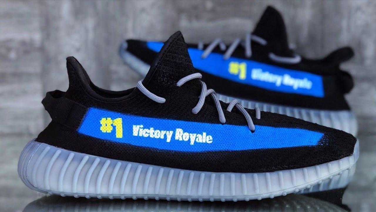 Custom Fortnite Yeezy Shoe 1 Victory Royale Youtube