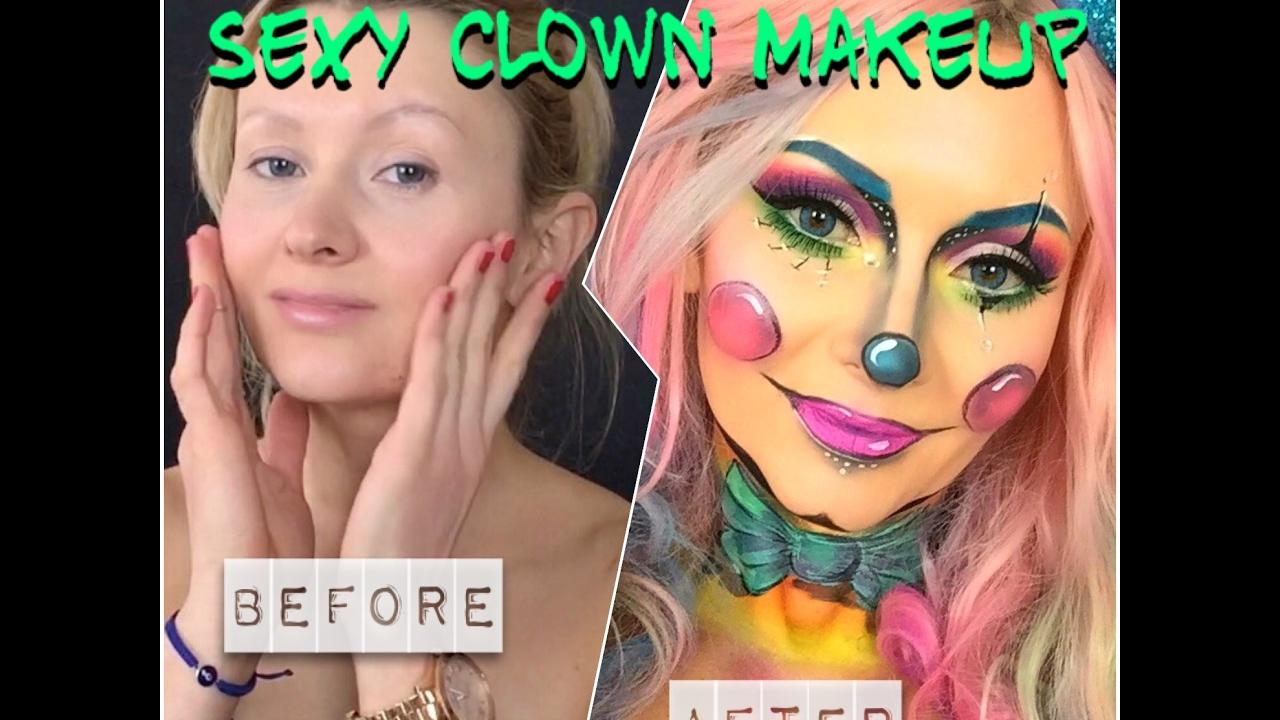 Sexy Clown Makeup Clown Schminken Clown Facepainting Tutorial