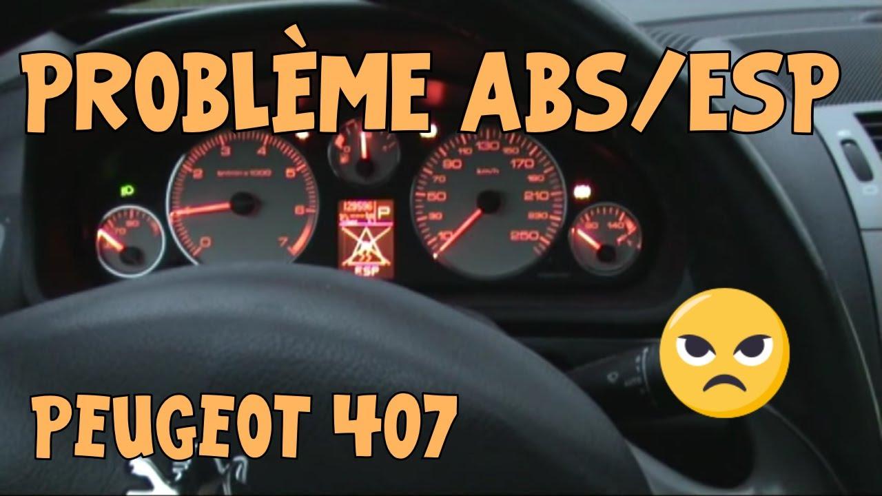 407 Problème Abs Esp