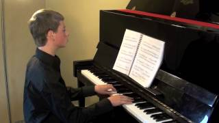 Sonata in C Major by Mozart K545 2nd and 3rd Movements performed by 14 year old Daniel Shaw