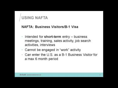 NAFTA Requirements for Working in the US Explained by Evelyn Ackah, Immigration Lawyer