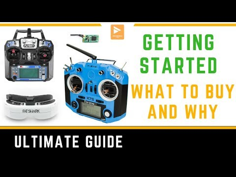 Фото Getting Started in FPV Racing Drone // List of What to Buy Transmitters & Goggles // Flysky & FrSky