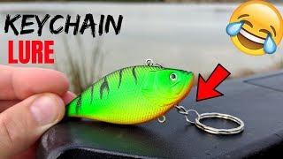 Keychain Fishing Lure CHALLENGE (Surprising!)