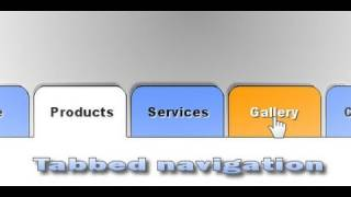 CSS Tabbed Navigation Menu - 1 of 2