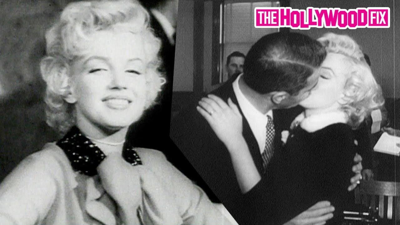 Marilyn Monroe Is Mobbed By Fans & Paparazzi While Kissing Joe DiMaggio & Out At Movie Premieres