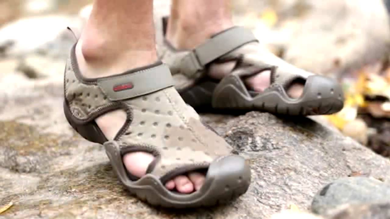 686a930467cf19 Mens Crocs Swiftwater Sandals - YouTube