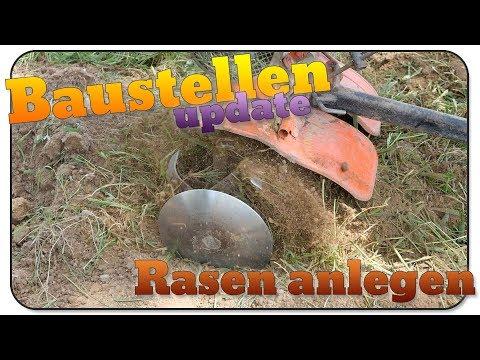 baustellen-update-36:rasen/wiese-anlegen-mit-motorhacke,-rechen,-walze