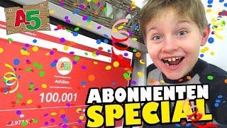 100000 ABO SPECIAL 🎈 Live Reaction 💯K  🙃 Ash5ive - Spielzeug und Kinderkanal 👦