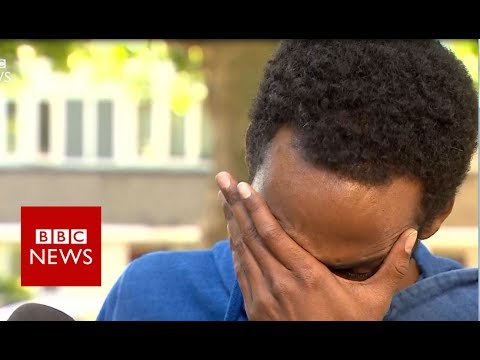 """A resident of Grenfell Tower describes """"seeing people throw children to safety""""- BBC News"""