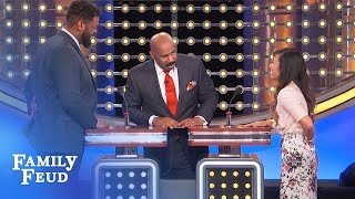 Tim does NOT approve of this answer! | Family Feud