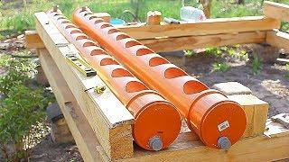 Грядка для клубники из трубы - клубника в трубе ПВХ 200 мм