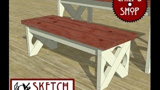 Chief's Shop Sketch Of The Day: Deck Table Bench