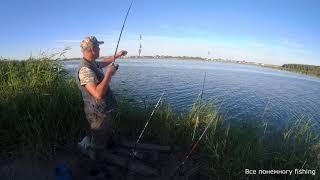 Рыбалка в Омской области Тюкалинск Караси на озере Разлив Все понемногу fishing