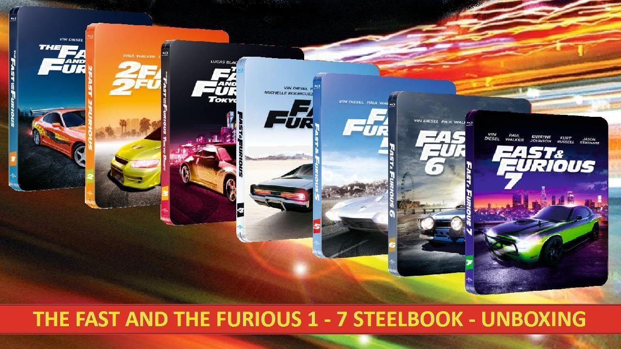 the fast and the furious 1 7 steelbook blu ray. Black Bedroom Furniture Sets. Home Design Ideas