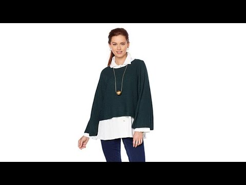 514ef45e5f2bf MarlaWynne Ottoman Popover Sweater - YouTube