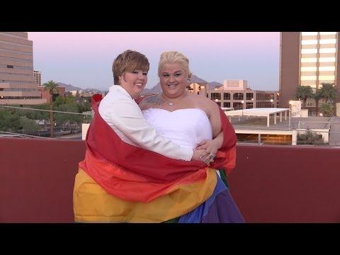 Molly and Rebecca AZ Gay Wedding