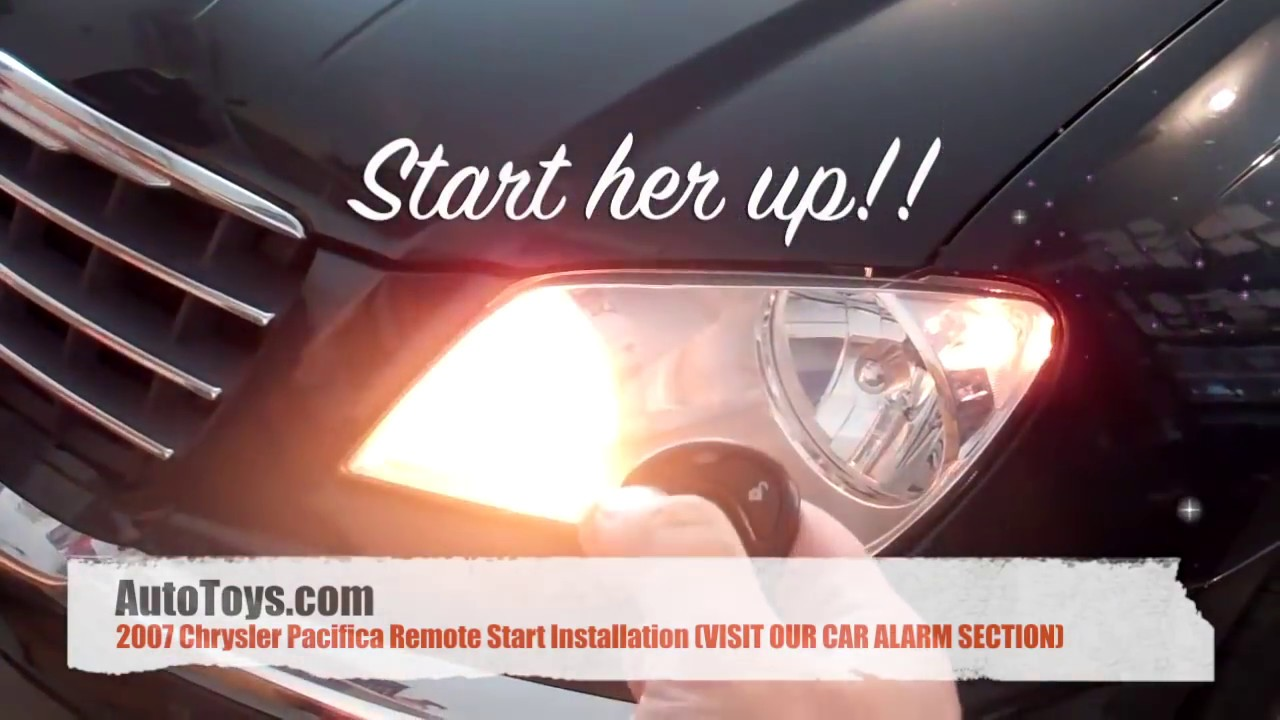 Chrysler Pacifica Remote Start Installation With Immobilizer Byp By Autotoys