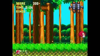 Sonic 3 and Knuckles - Mushroom Hill 1 Knuckles: 0:38 (Speed Run)