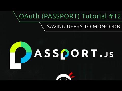 OAuth (Passport.js) Tutorial #12 - Saving User to MongoDB thumbnail