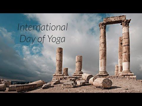 Celebrating 3rd International Day of Yoga in Amman, Jordan احتفال باليوم العالمي لليوغا في عمان