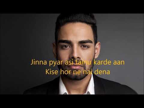 Asi Tere A Official Lyrics Video Fysul Mirza X PAV Dharia