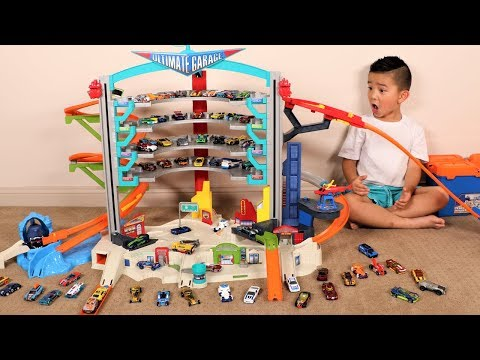 BIGGEST Hot Wheels Set Ever Ultimate Garage Toys Unboxing Fun With Ckn