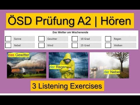 ÖSD A2 Hören | German Listening Test ÖSD A2