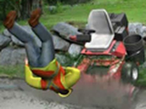Out of control mower strikes worker youtube publicscrutiny Image collections