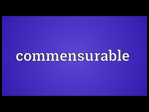 Header of commensurable