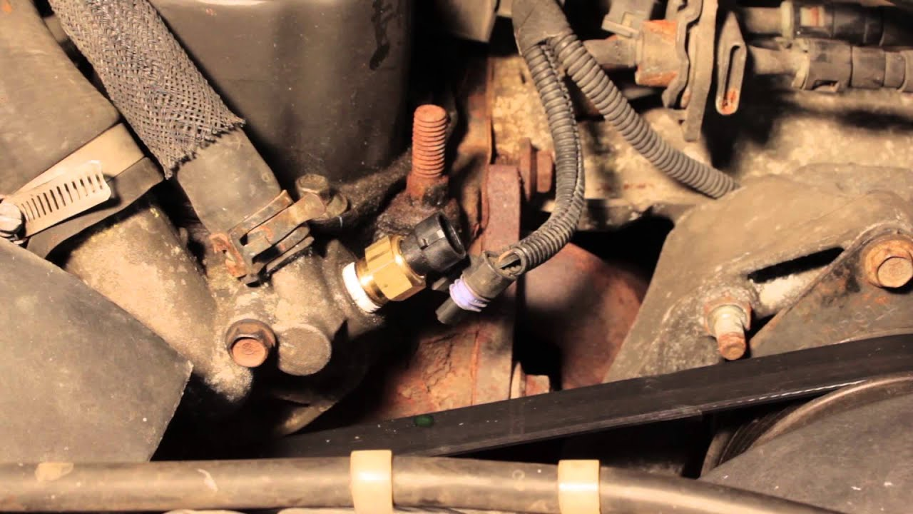 Jeep Cherokee Coolant Temperature Sensor Replacement Youtube