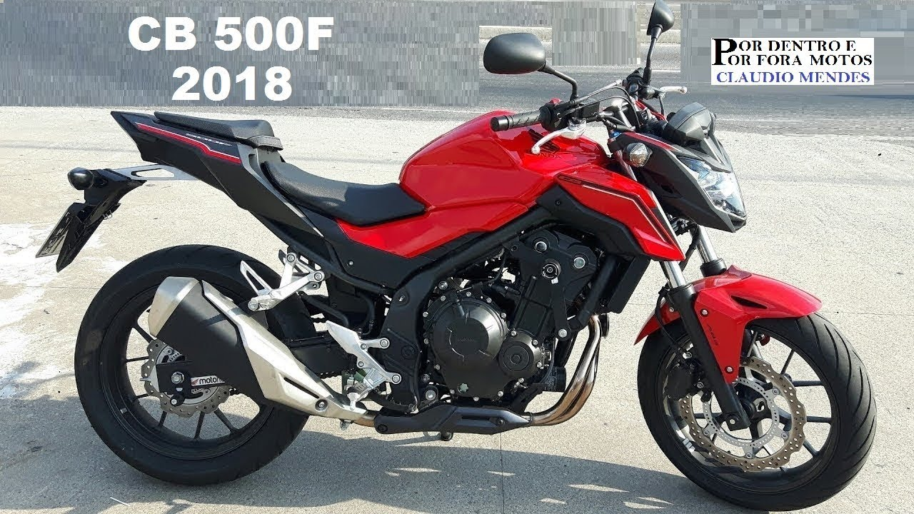 honda cb 500f 2018 com muitos detalhes youtube. Black Bedroom Furniture Sets. Home Design Ideas