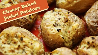 Cheesy Baked Jacket Potatoes | Easy To Make Lunch/brunch Recipe | Divine Taste With Anushruti
