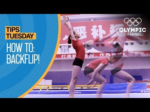 How to do a backflip ft. Chen Yile | Olympians' Tips