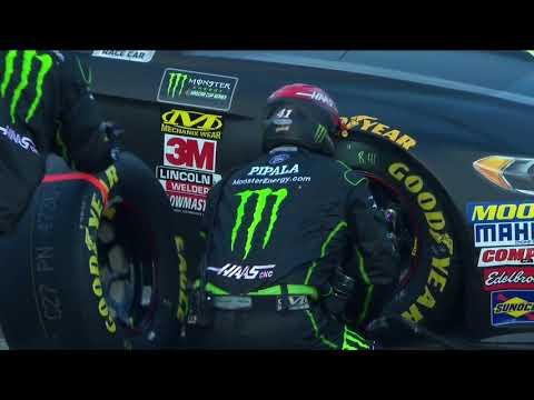Busch's helmet cam captures full speed on pit road