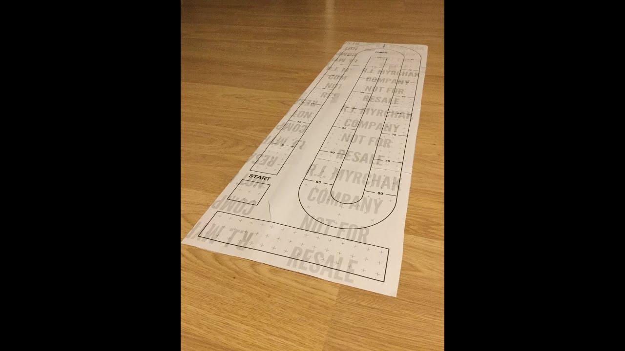Large Cribbage Board Template Digital