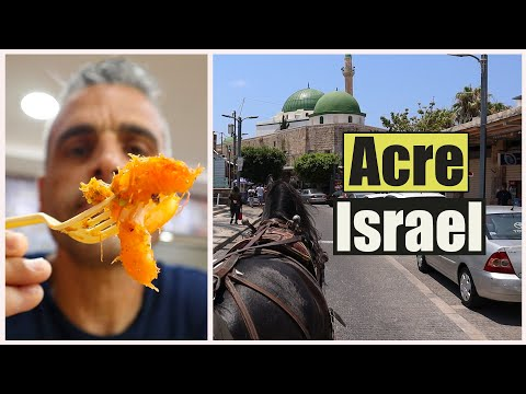 Acre Israel 2020 - Israel Food Tour, Falafel, Hummus With Tahini, ISRAEL'S OLD CITY - Travel Vlog