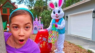 Catching the Easter Bunny and Huge Egg Surprise with My Little Pony Toys Inside