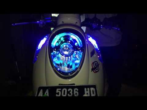 Lighting modifikasi HONDA SCOOPY FI